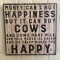 Happiness and cows
